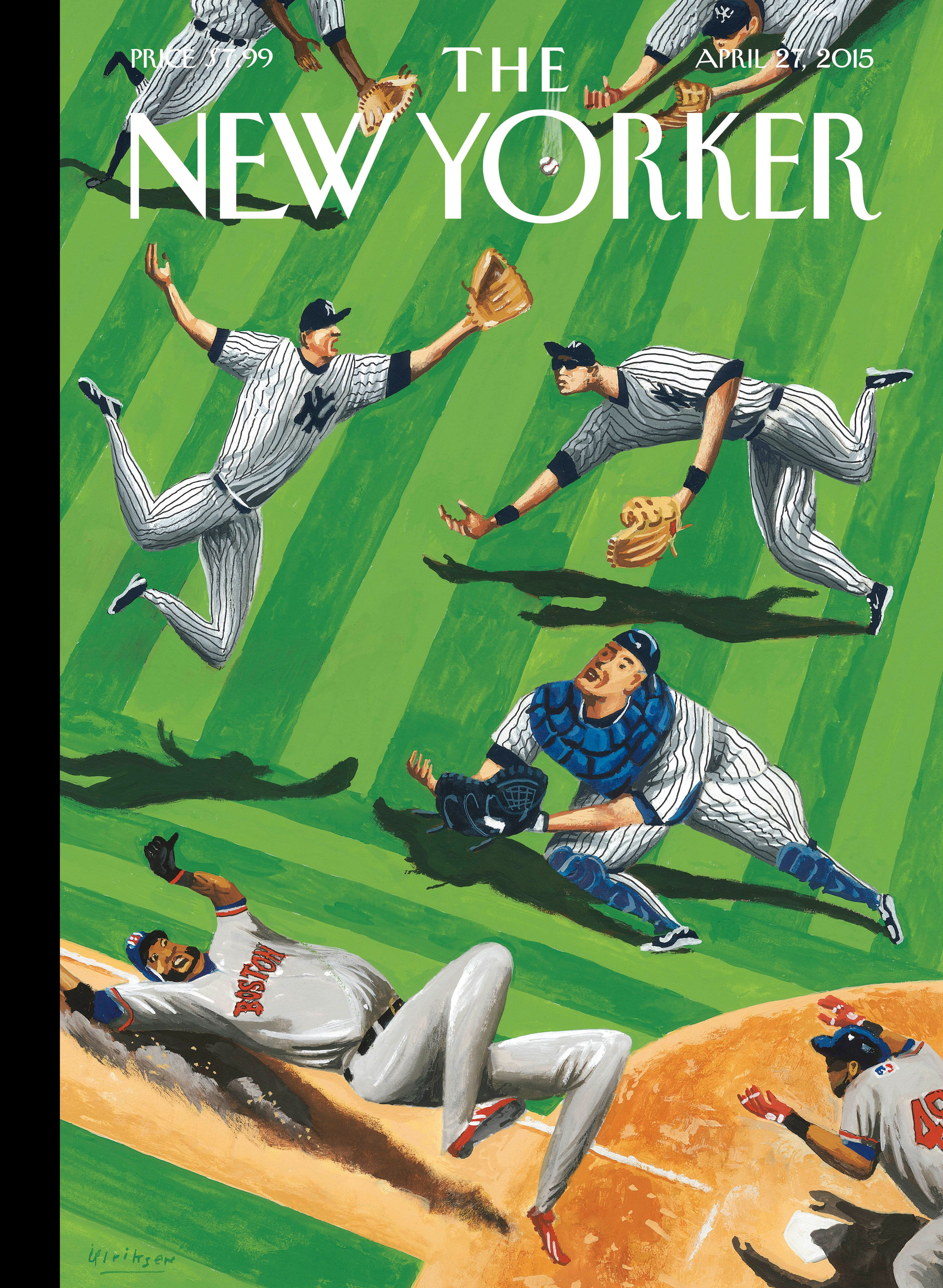 "The New Yorker - Monday, April 27, 2015 - Issue # 4592 - Vol. 91 - N° 10 - Cover ""Baseball Ballet"" by Mark Ulriksen"