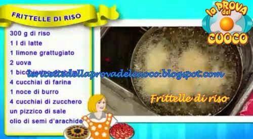 Frittelle di riso ricetta Anna Moroni