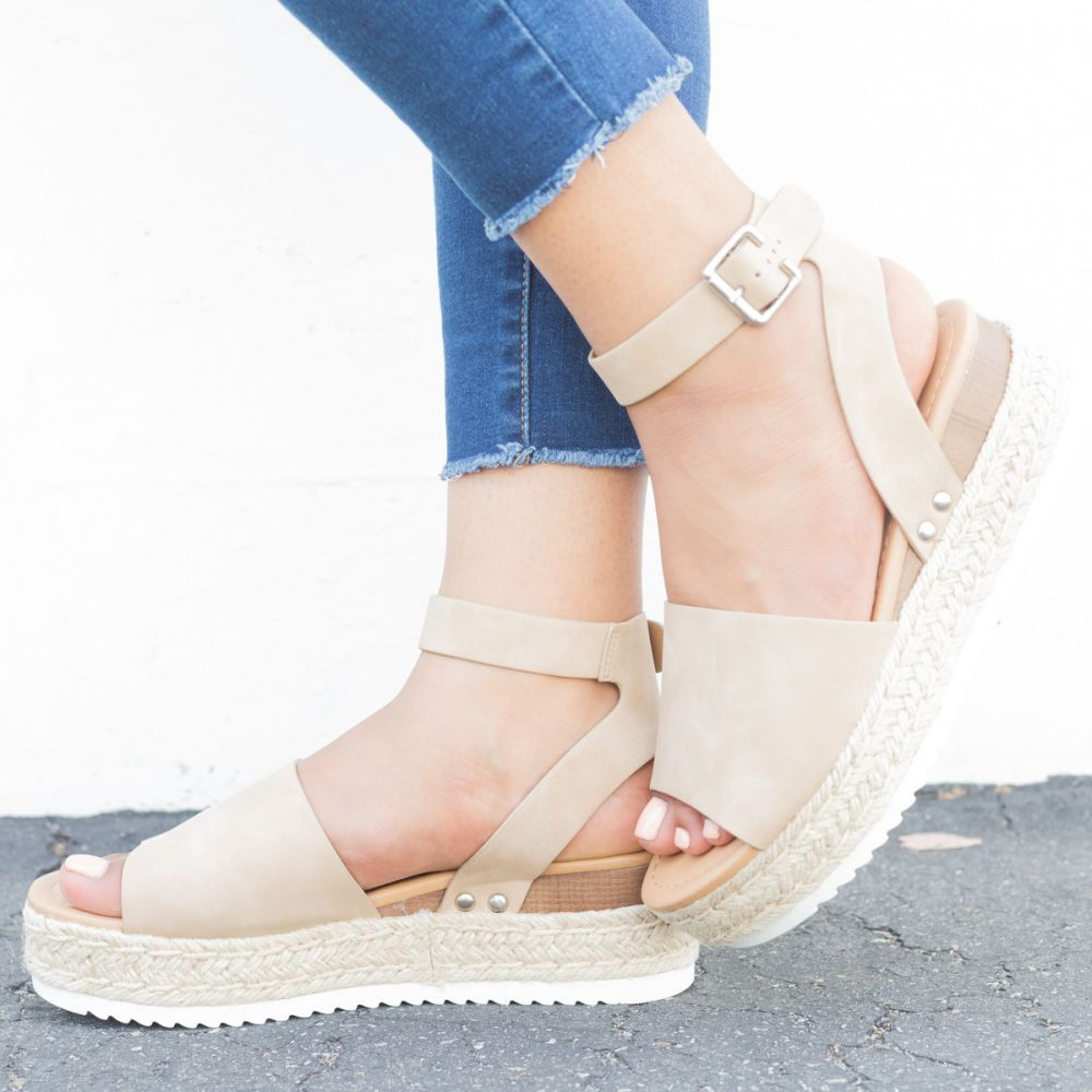 495ffa690 Beyond Chic Espadrille Platform Sandals Soda Shoes Topic-S