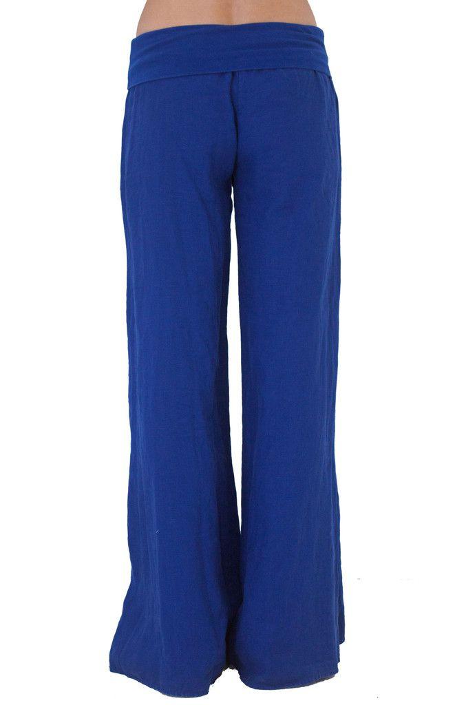 Royal Clothing | Yogi Clothing Rollover Yoga Pant Royal Blue