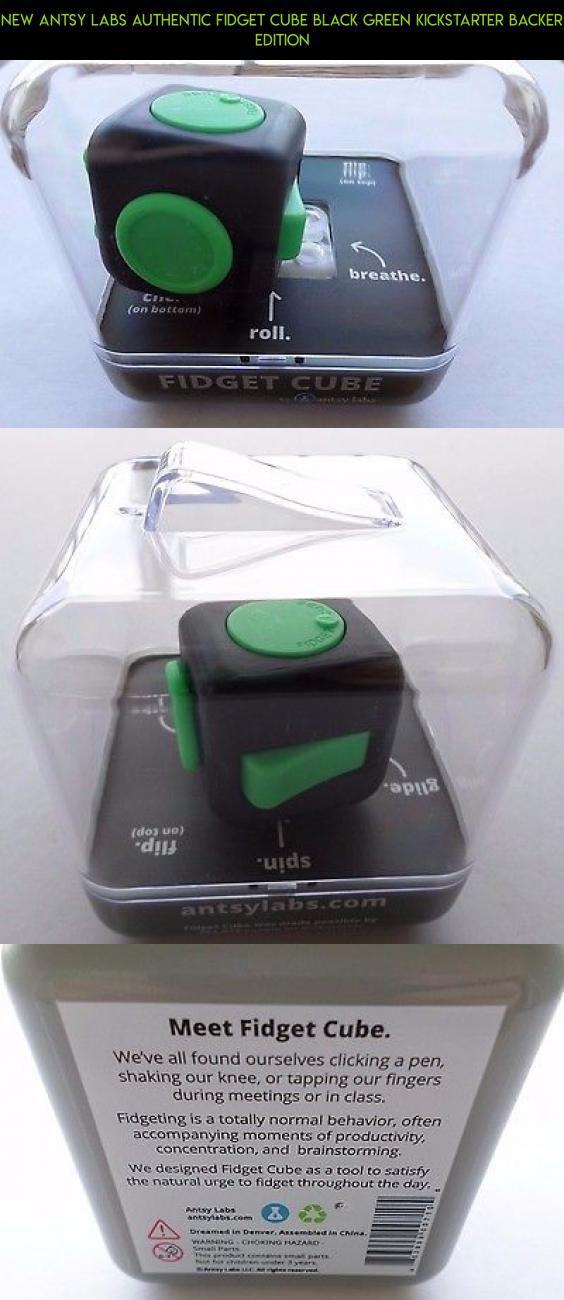 New Antsy Labs Authentic Fidget Cube Black Green Kickstarter Backer Edition Parts Plans Shopping Antsy Cube Gadgets Racing Cam Fidget Cube Cube Fidgets