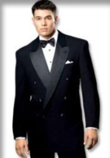 Solid #black #Double #Breasted #tuxedo #6 on #1 #button #closer ...