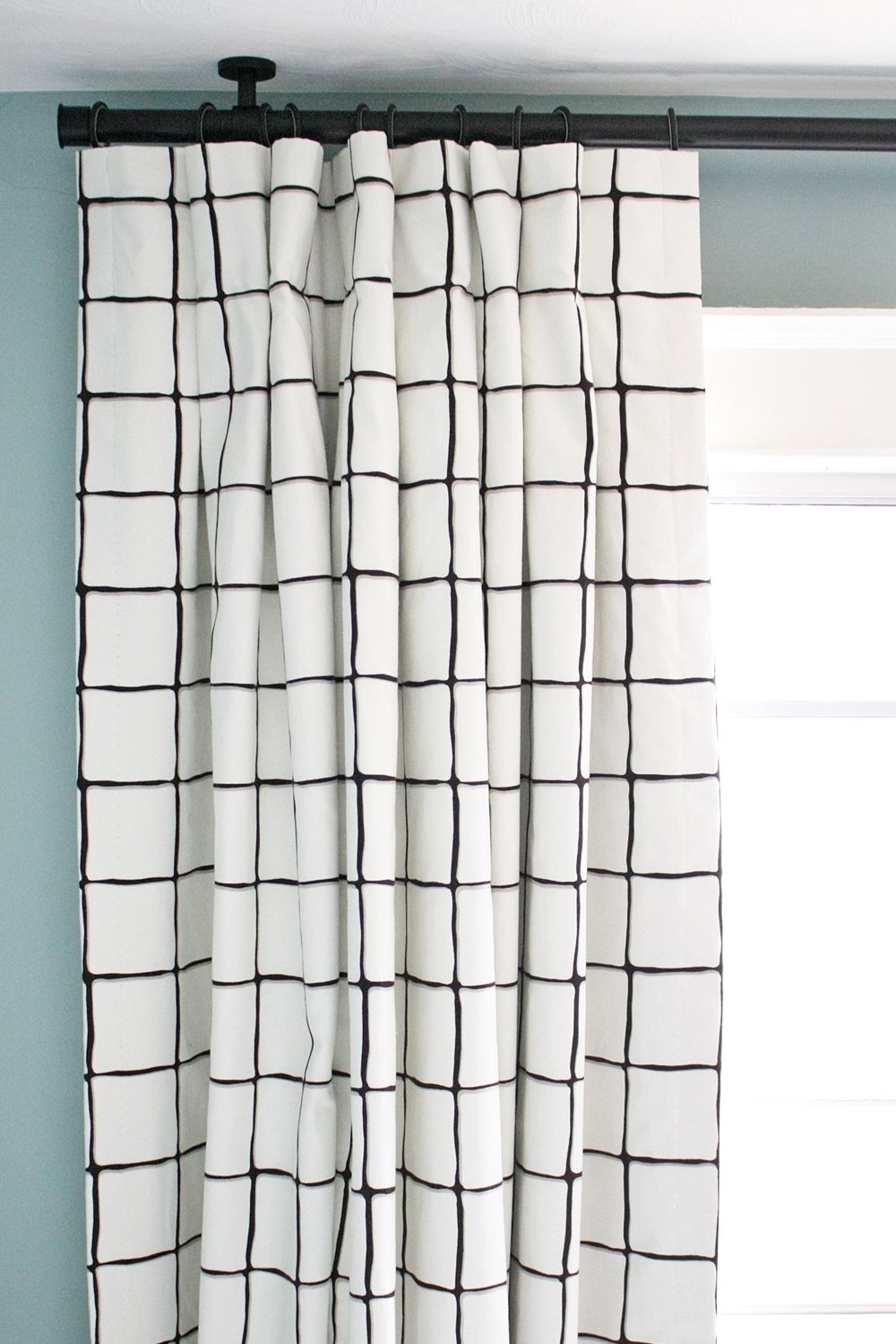 Window Pane Check Curtain Panels By Tonic Living A
