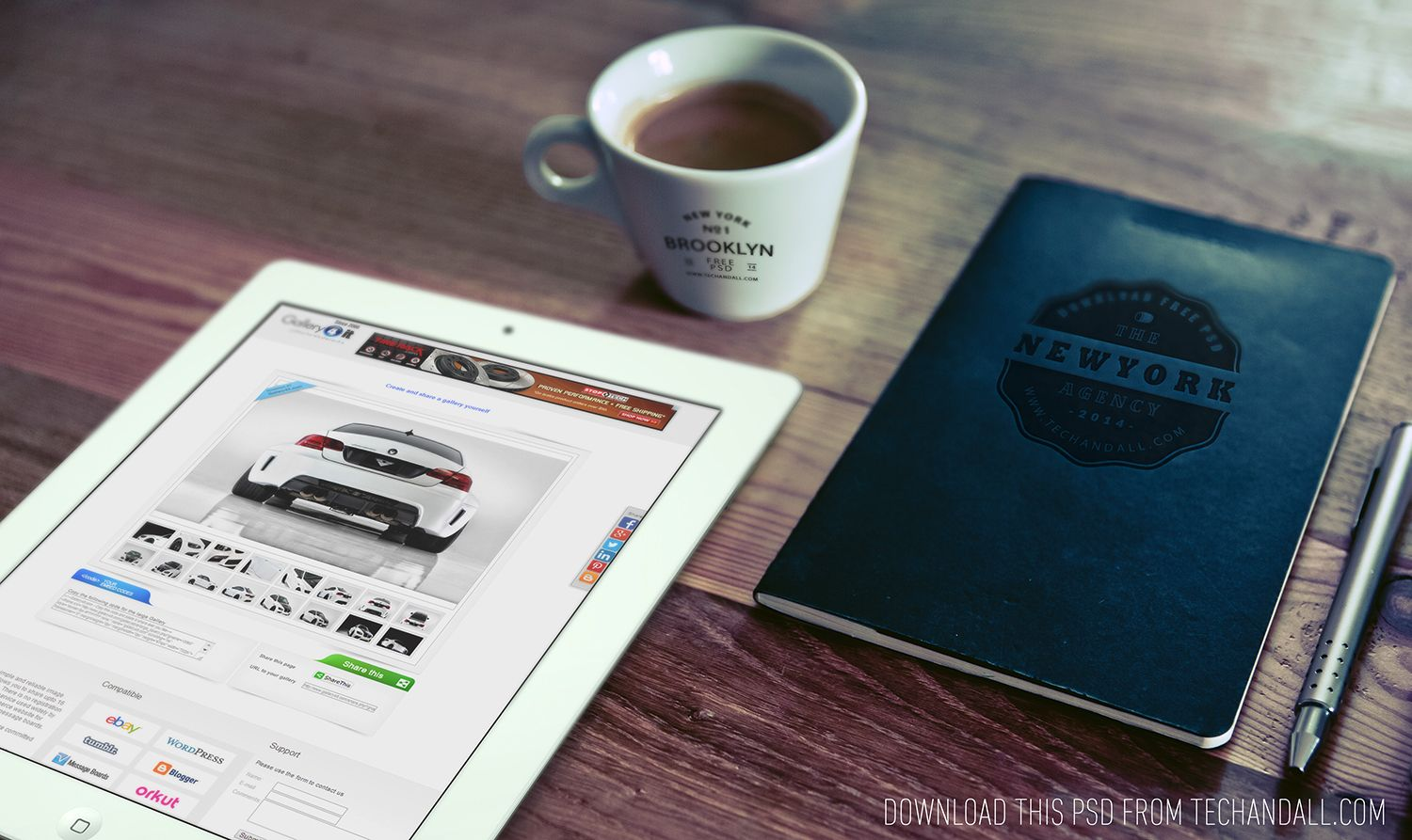 Free Good Morning (iPad, Cup Logo & Notebook Logo) mockup (104Mb ...
