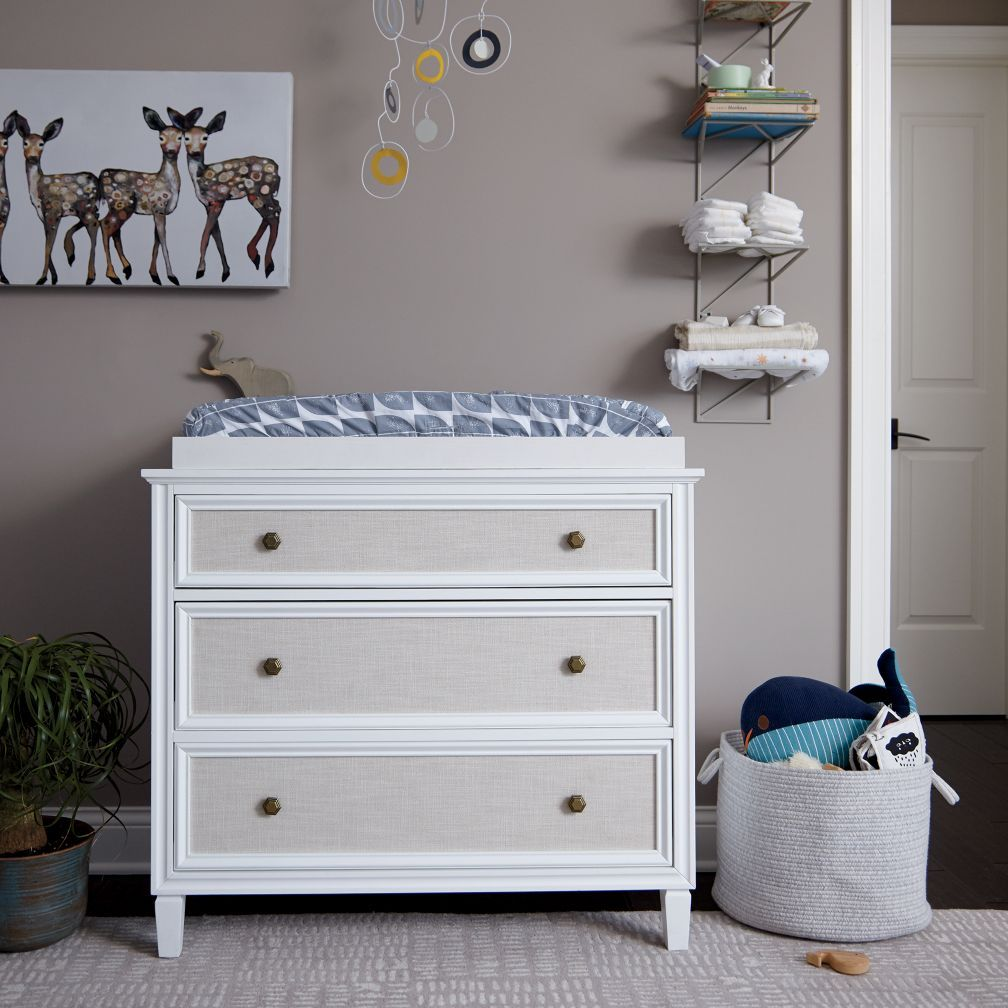 Harmony White Changing Table Dresser | The Land of Nod | Nursery ...