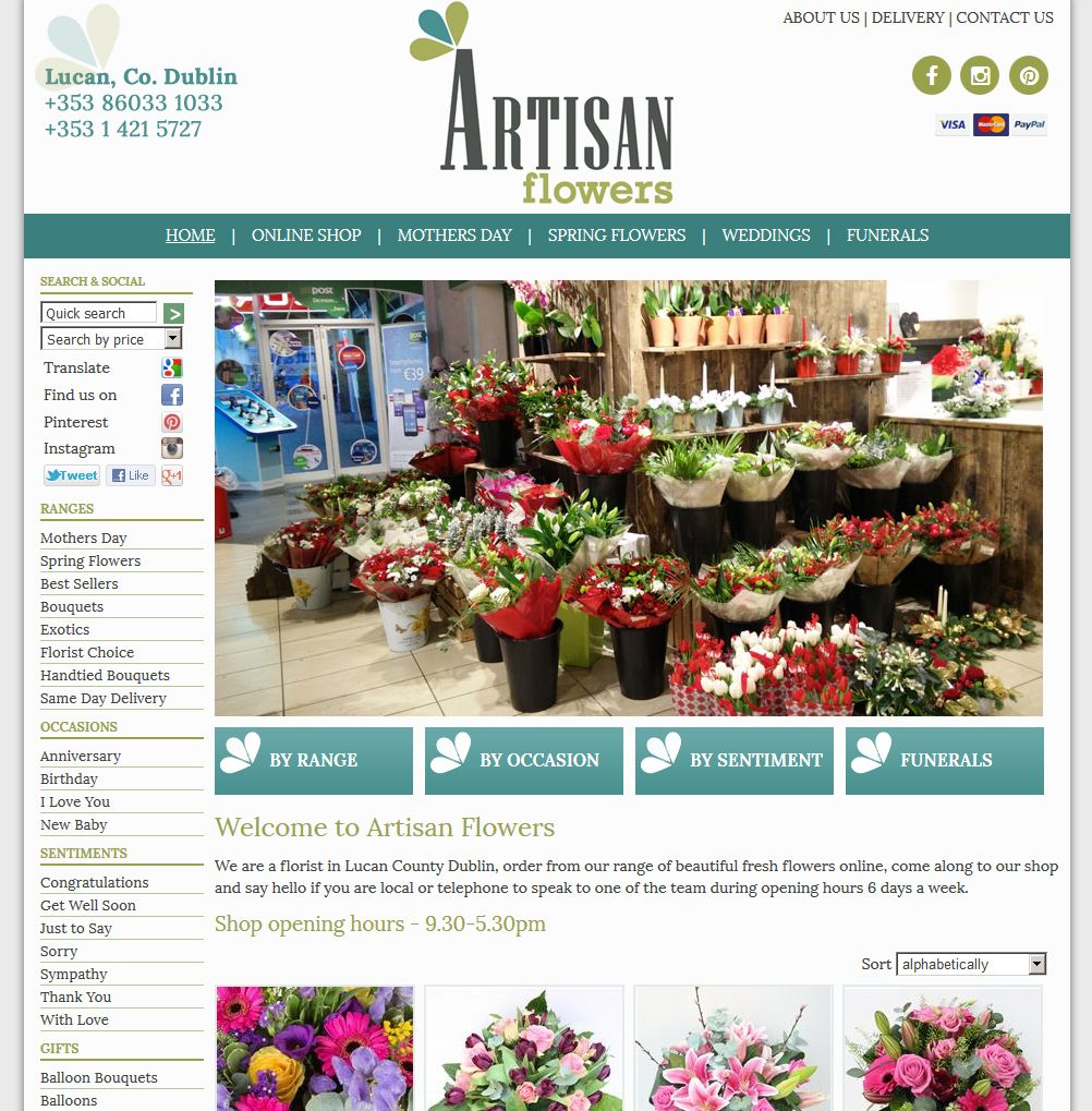 Pin by florist window on florist window clients homepage artisan flowers florist lucan co izmirmasajfo