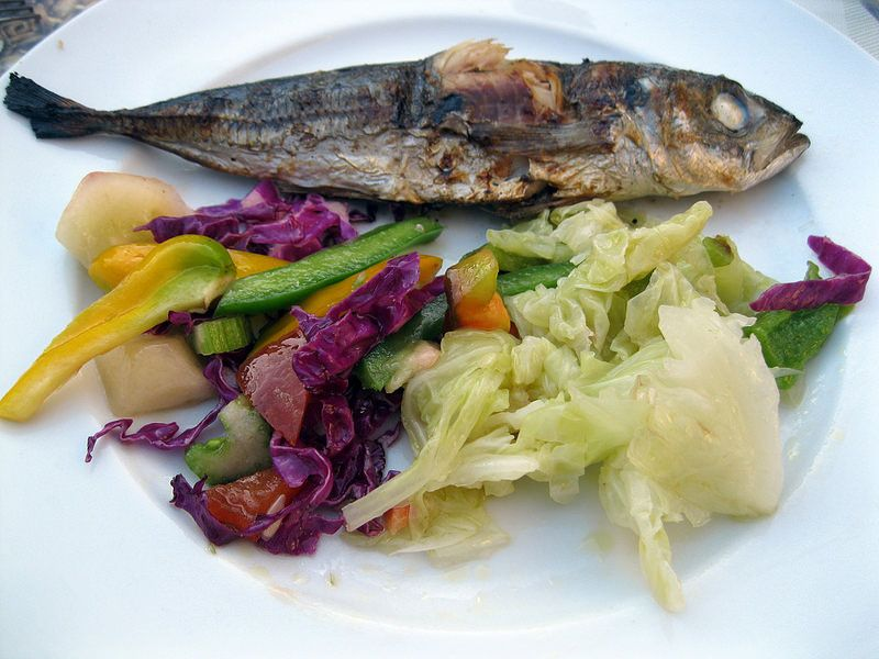 Grilled Sardines and Salad Gardiniere... #anydaysoiree