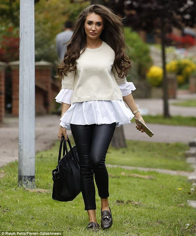 1bcd06ab338880 Attention grabbing  It seems Megan McKenna had to settle for second best  during The Only Way Is Essex filming on Thursday as she valiantly tried to  strike ...
