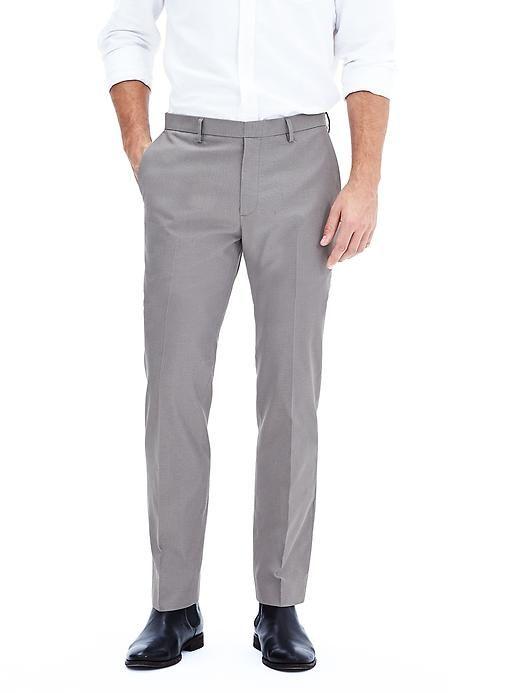 ae1b85a7c Modern Slim Non-Iron Gray Cotton Dress Pant