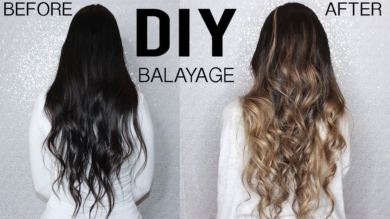 HOW TO DIY BALAYAGE+OMBRE HAIR TUTORIAL AT HOME FROM