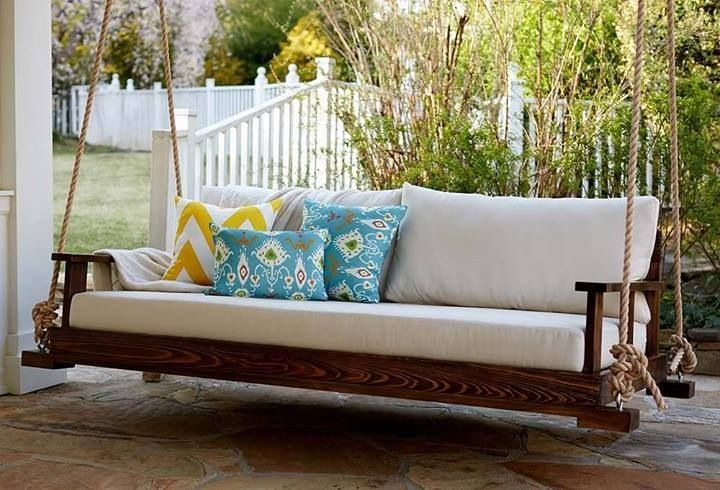 Diy front porch swing home hd wallpaper garden for How to make a porch swing bed