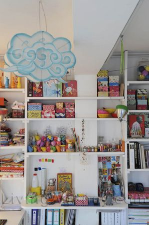 Very colourful shelves. Like & Love anything shelves/storage with colors and room for displaying!