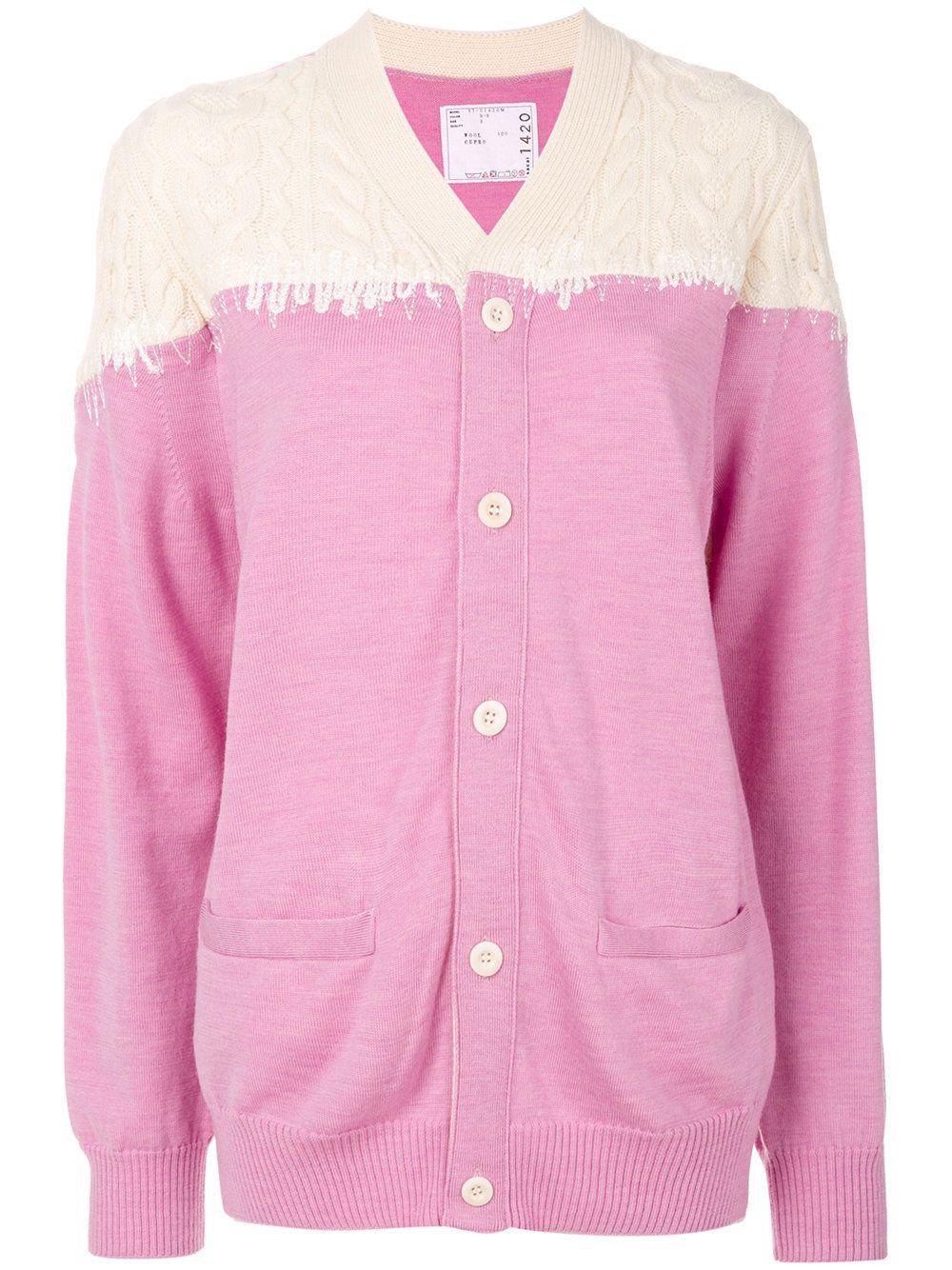 Dorothy perkins petite pink stitch cardigan