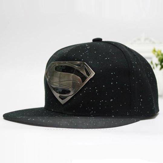 Cheap Superman S carta gorra de béisbol del snapback casquillos planos  Unisex tapa transporte barato sombreros 919711251ef