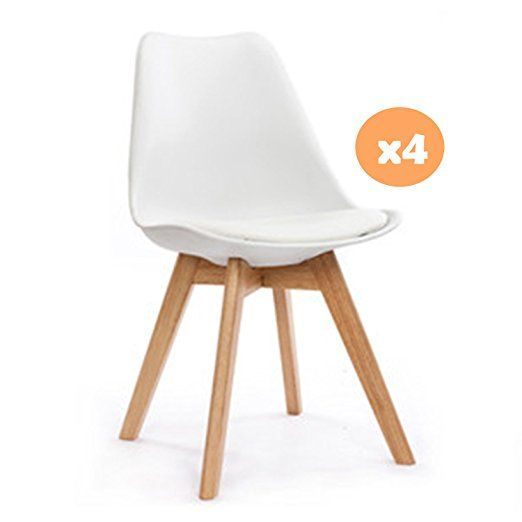 Mmilo® Tulip Dining ChairOffice chair with Solid legs