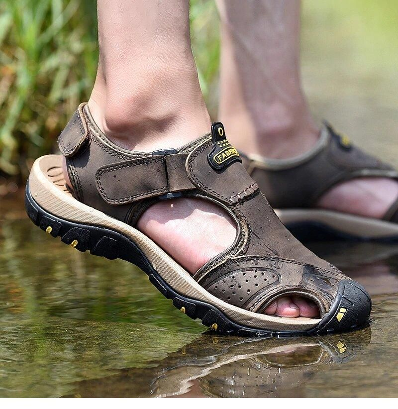 Men's Summer Leather Water Walking Sandals | New shoes