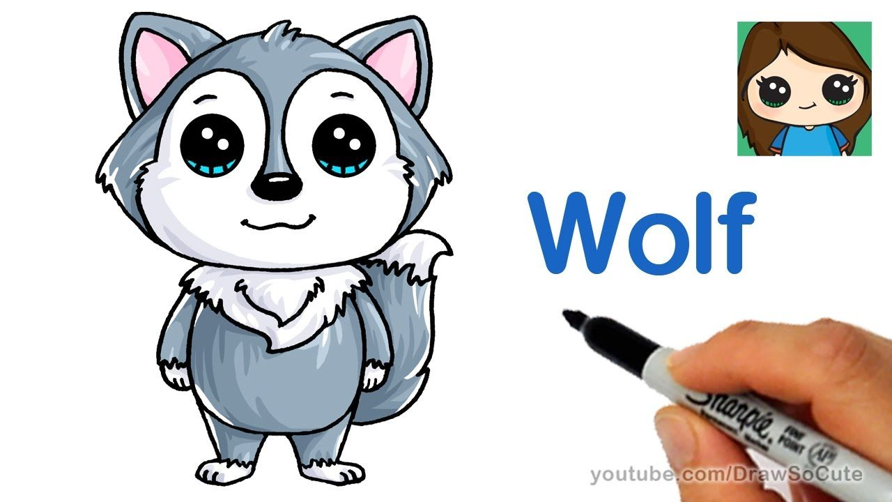 How To Draw A Cartoon Wolf Easy Youtube Cartoon Wolf Cartoon