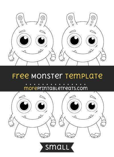 Free Monster Template  Small  Shapes And Templates Printables