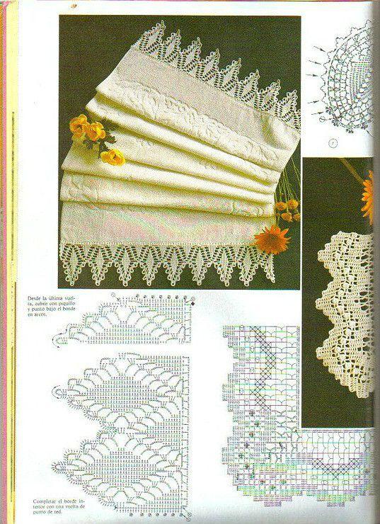 Puntilla punto de red. Ganchillo. Filet Crochet | кружева ...