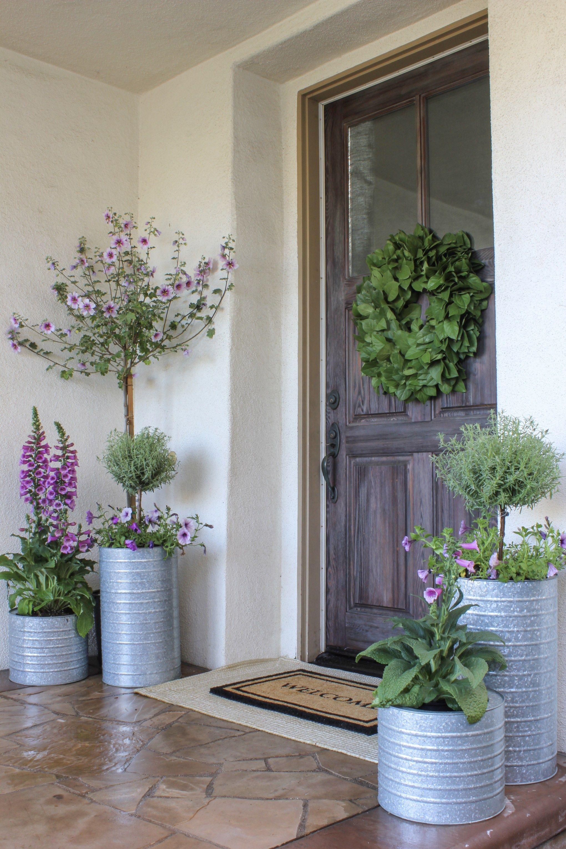 Piante Per Giardini Moderni front porch planters | idee giardino moderno, vasi da