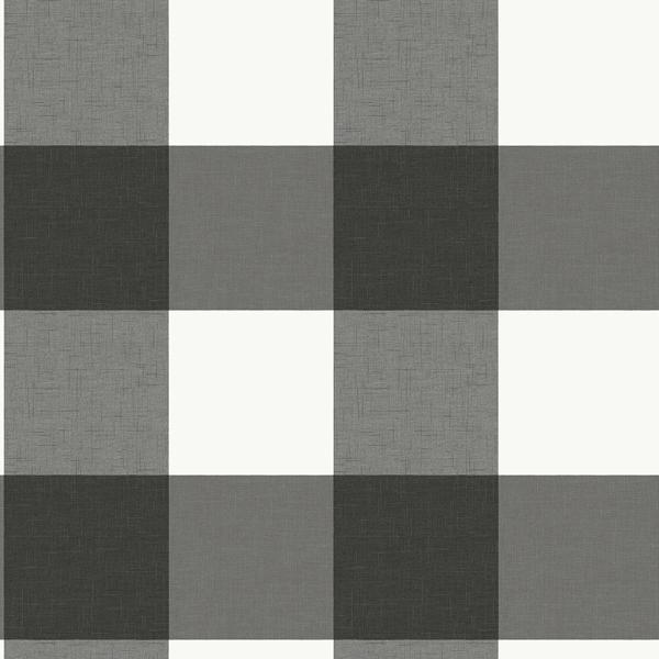 Charcoal Farmhouse Plaid Peel And Stick Wallpaper Nuwallpaper Peel And Stick Wallpaper Wallpaper Samples