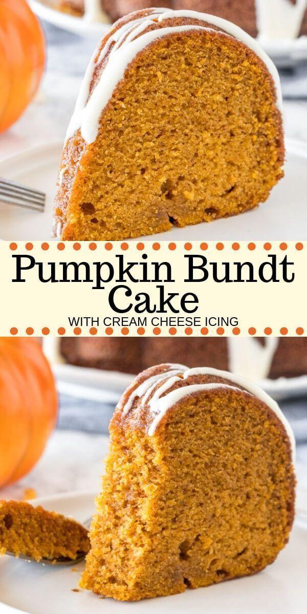 Delicious Pumpkin Cake w/ Cream Cheese Icing