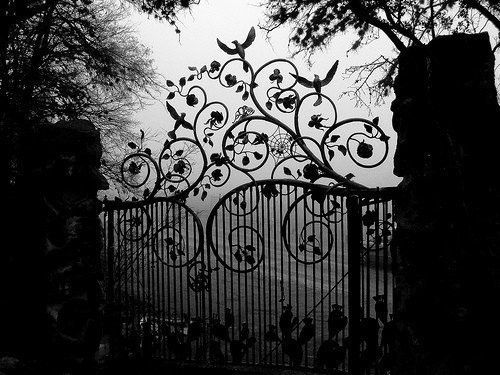 Old wrought iron gate