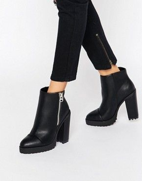 e526208dcde4 ASOS ELEANORY Chunky Ankle Boots   style   Pinterest