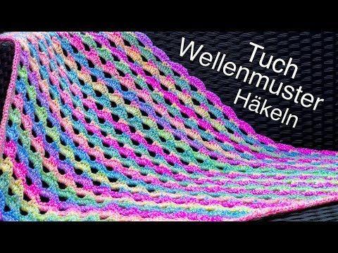 Photo of Schönes Dreieckstuch – Schal mit Wellenmuster Häkeln | Einfach | Anfänger