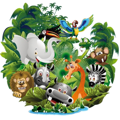 The Jungle Zoo Safari Jungle Rainforest Zebras Alligator
