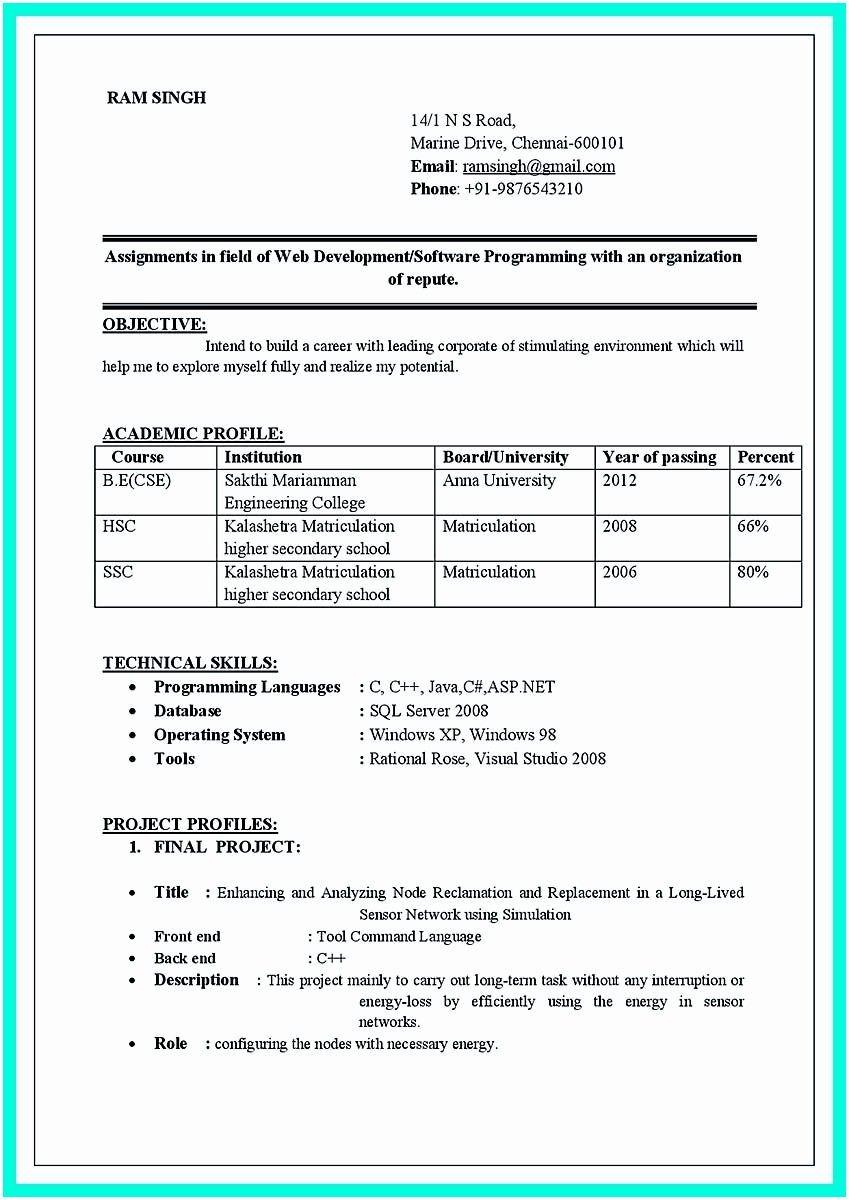 Normal Cv Format Google Search Resume Format For Freshers Job Resume Format Best Resume Format
