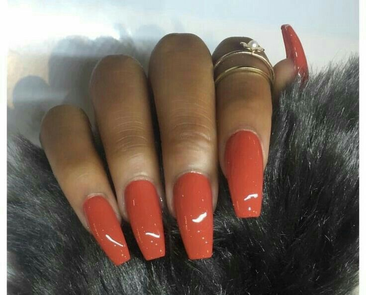 Discover Ideas About Acrylic Nails Orange