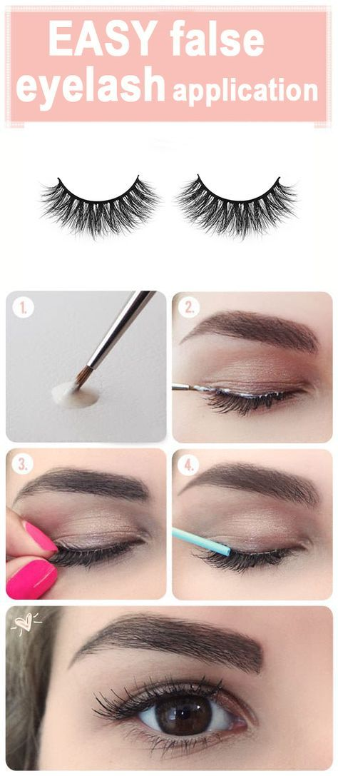How To Apply False Eyelashes 4 Steps To Put On Fake Lashes