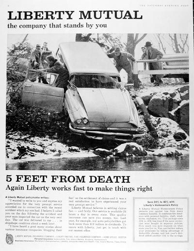 Liberty Mutual Car Insurance Quote 5 Feet From Death Retro Car Insurance Advertisements Pulled No .