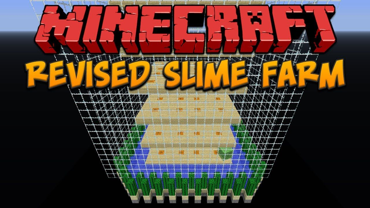 Minecraft: Revised Chunk Based Slime Farm | minecraft | Minecraft