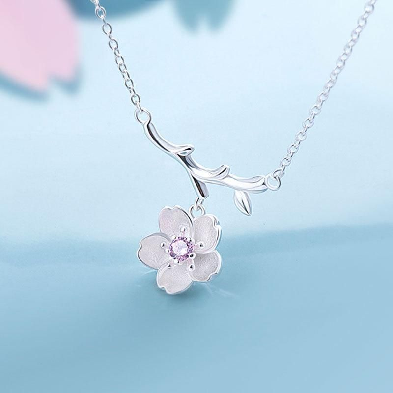 Necklace Blossoming Vines Sterling Silver Jewelry Set Earrings and Bracelet