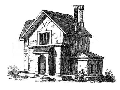 English Cottage Dwelling Of Two Stories For A Man And His Wife With Servant  And Two