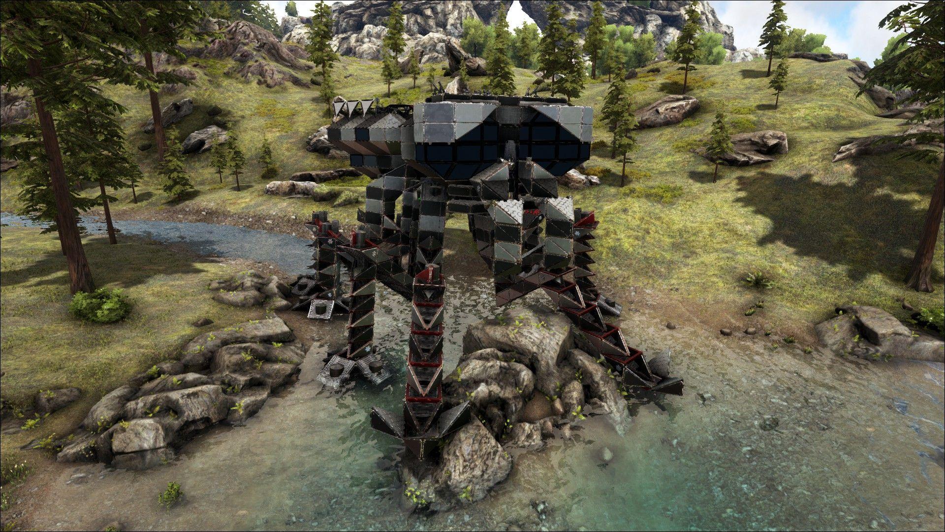 Ark, Tek Base, Jumping Spider, Japanese Mech