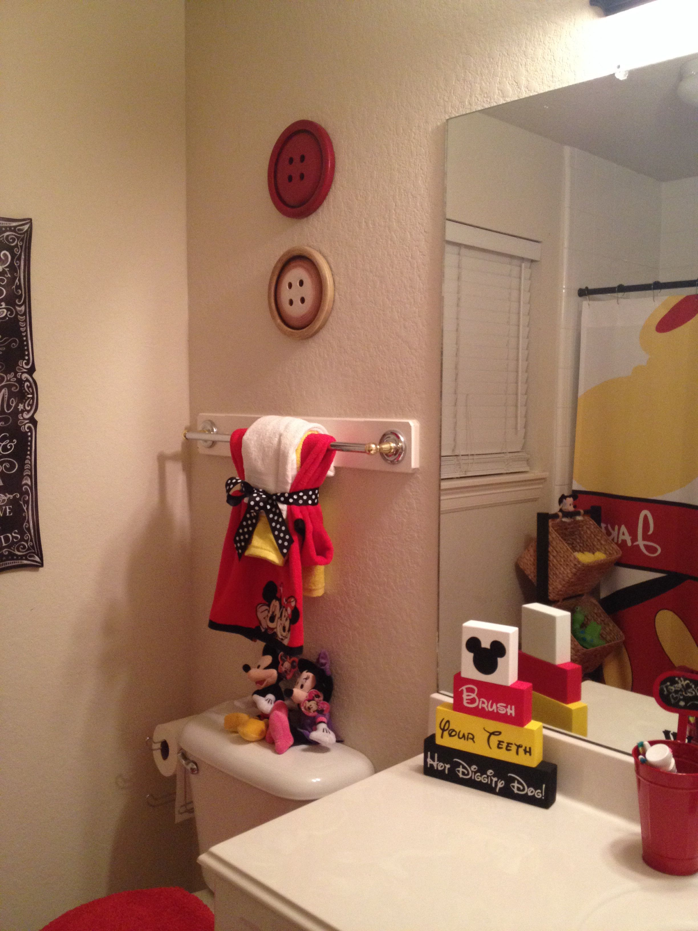 Mickey Mouse Bathroom Ideas.Those Buttons They Have Them At Hobbylobby Could Paint