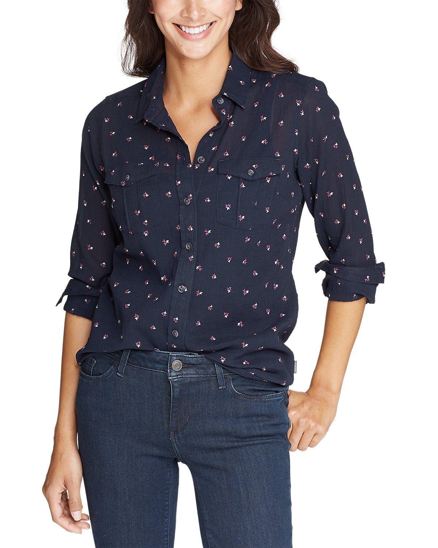 Women's Packable Shirt Print Eddie Bauer Eddie bauer