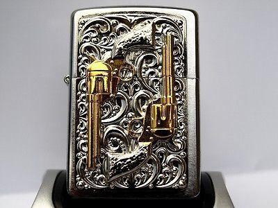 Two Guns Vintage Zippo Lighter Zippo Lighter Zippo Zippo Collection