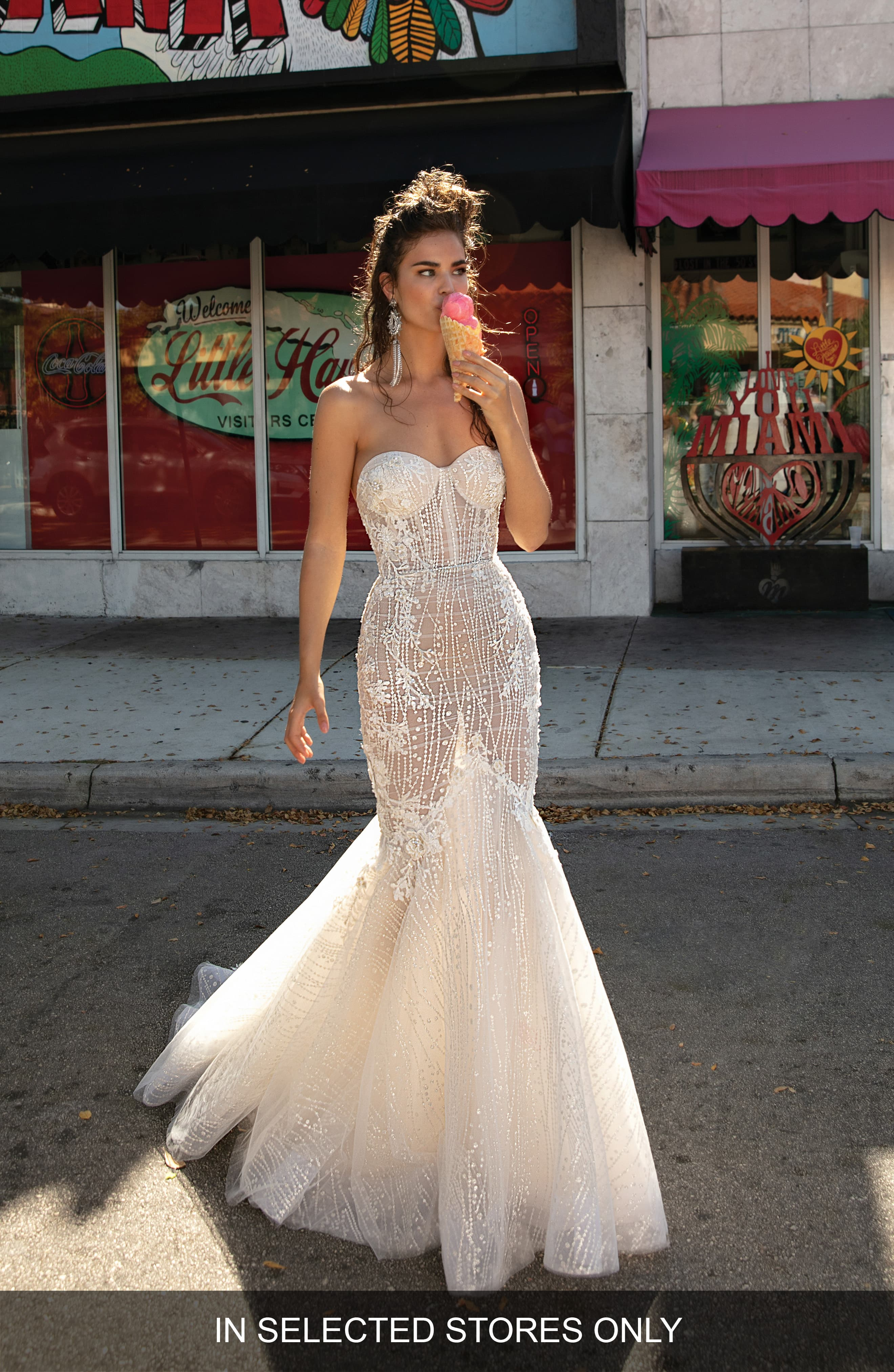 Women's Berta Beaded & Embroidered Strapless Mermaid Gown
