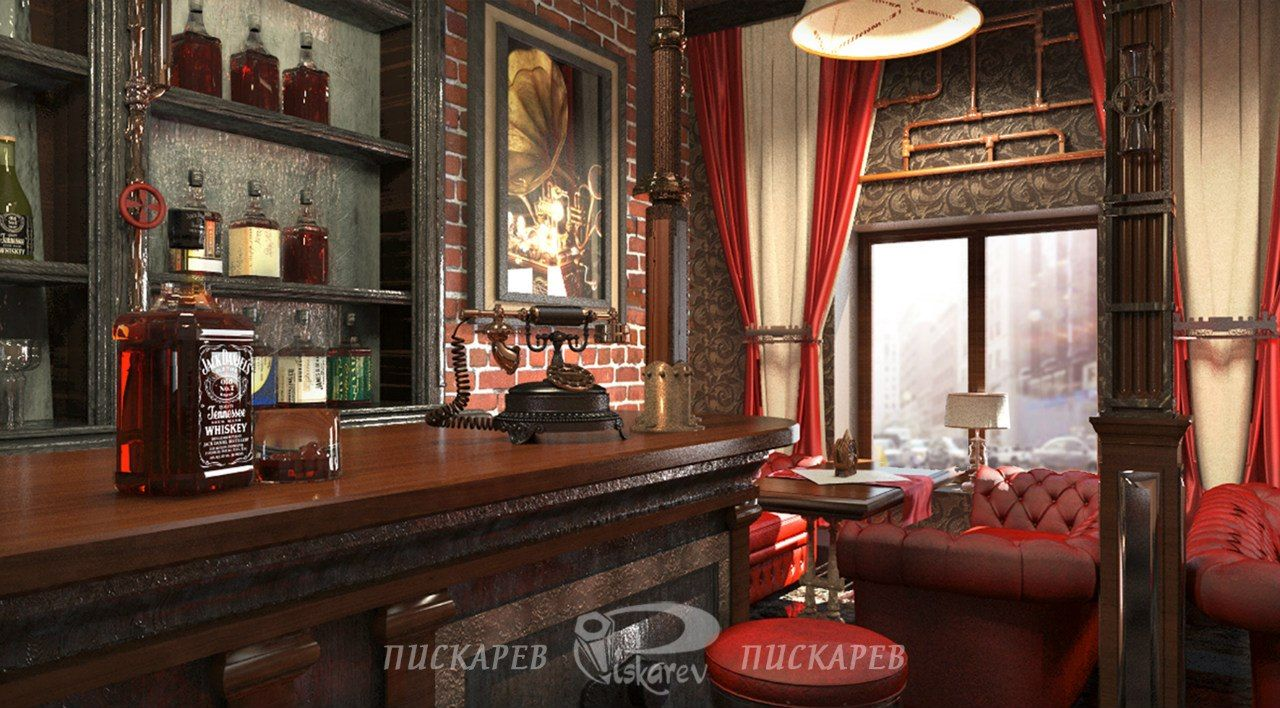 Welcome to the surreal steampunk apartment where jules verne meets tim - Jules Verne Restaurant Interior Design Vladimir Piskariov