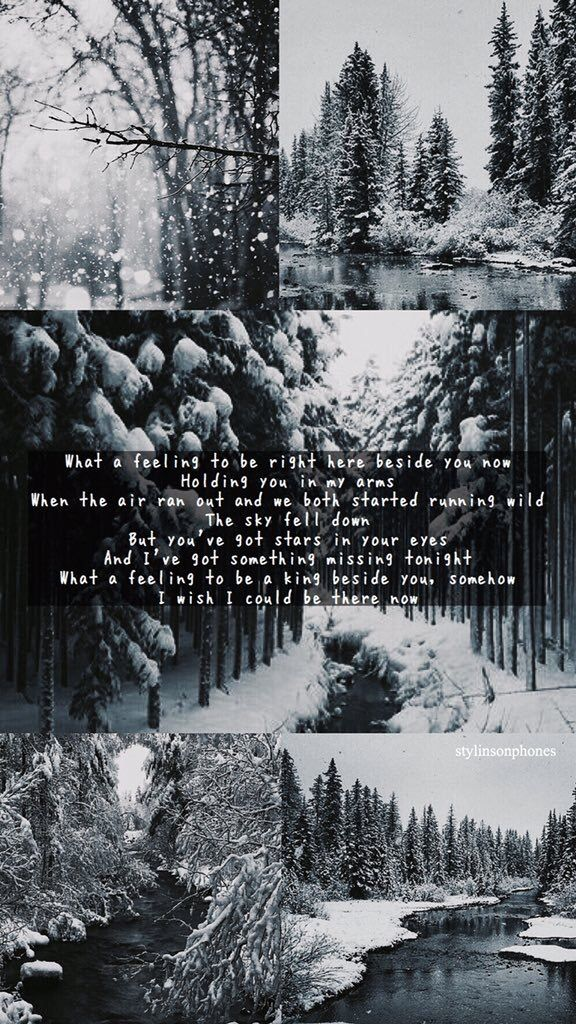What A Feeling Winter Lockscreen | ctto: @stylinsonphones