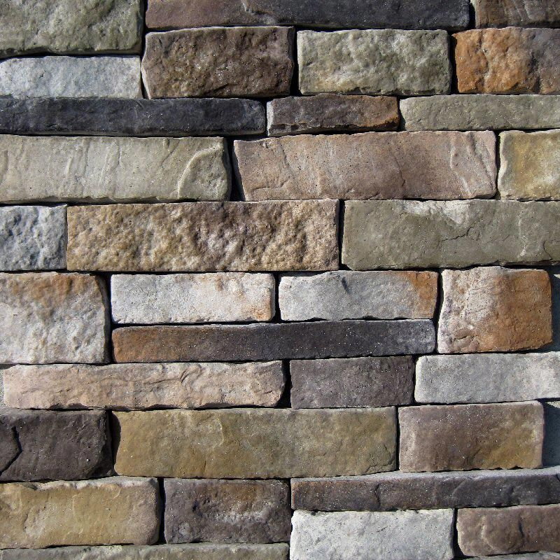Manufactured Stone - Southern Stacked Stone - Aspen / Stacked Stone 10 sq ft Flat for fireplace