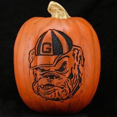 Georgia Bulldogs 12'' Resin Decorative Pumpkin
