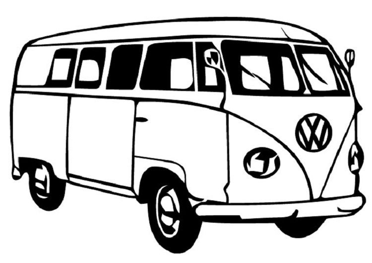 Combi Van Coloring Pages | New Coloring Pages | Pinterest | Imprimir ...