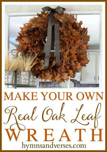 diy fall oak leaf wreath diy dollar store decòr pinterest oak