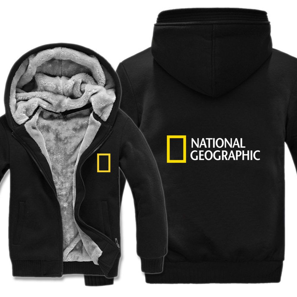 National Geographic Channel Hoodies Winter Men Fashion Wool Liner Jacket National Geographic Sweatshirts Men Coat | Wish