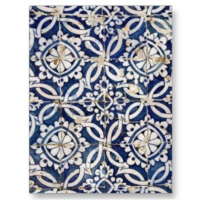 Vintage Portuguese Azulejo Postcards by gavila_pt